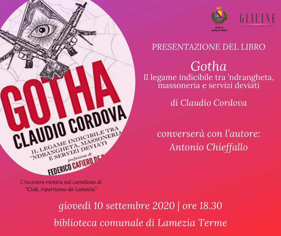 presentazione Gotha di Claudio Cordova a Lamezia Terme GLICINE