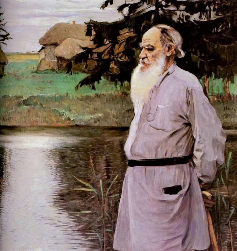 Lev Tolstoj in un dipinto di Michail Vasil'evič Nesterov (1907)
