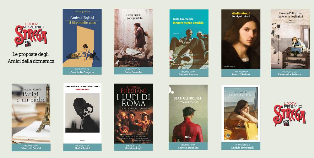 Premio Strega 2021, nuovi 10 libri in corsa