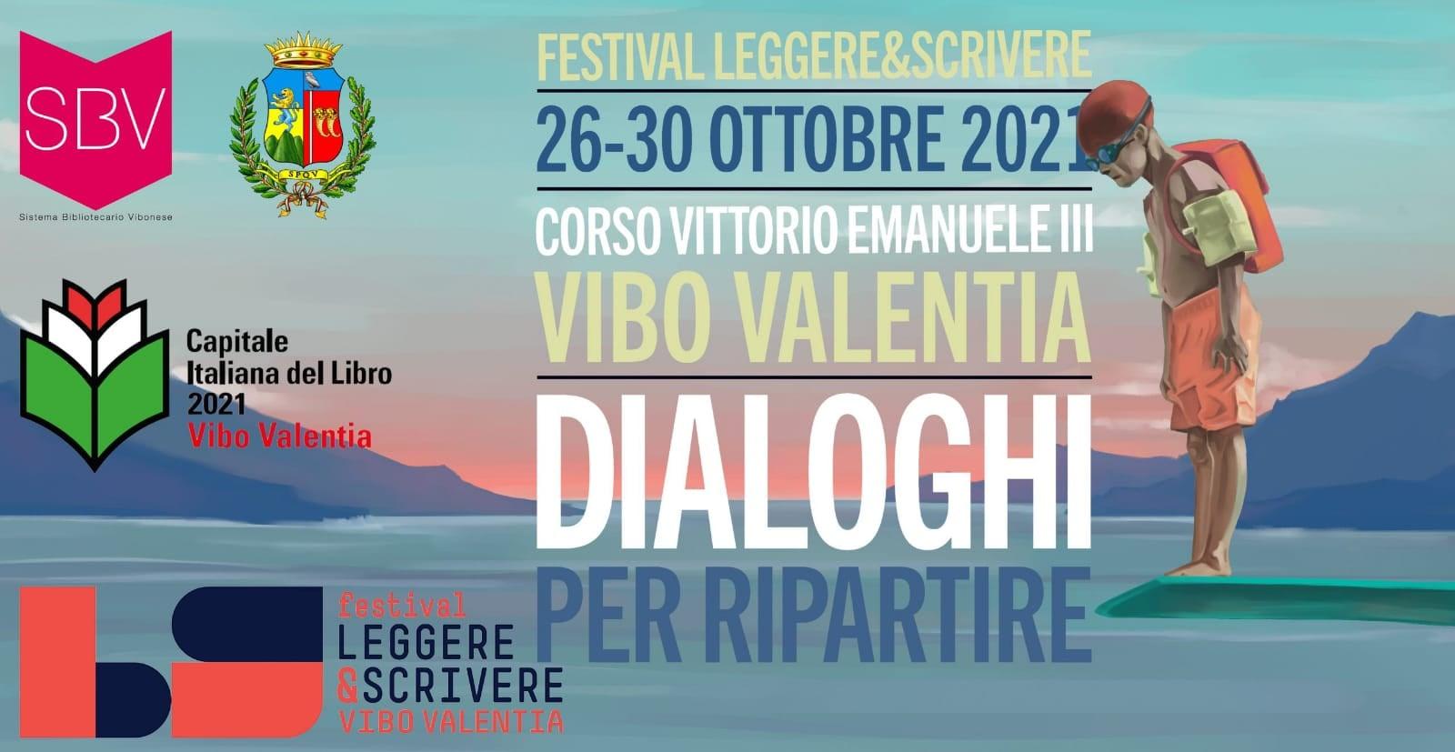 Leggere&Scrivere: dal 26 al 30 ottobre torna a Vibo Valentia il festival della letteratura
